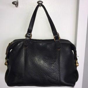 Madewell Black Leather Satchel bag